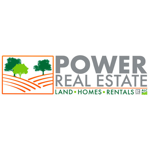 Logo and Branding for Power Real Estate, Mobile and Baldwin County Alabama's land and foreclosure leader.