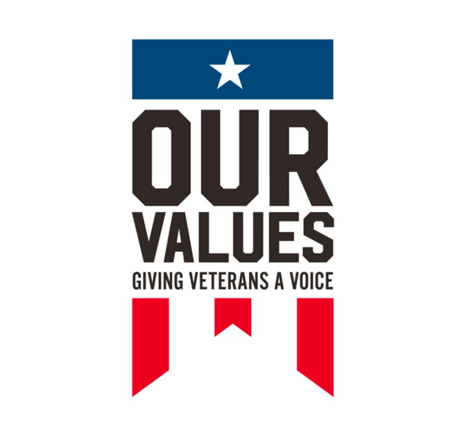 Custom WordPress web design for Mark Geist's Veteran non-profit, Our Values.
